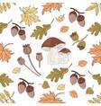 mushroom landscape nature seamless pattern vector image vector image