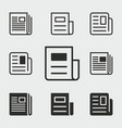 news icons set vector image vector image