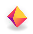 octahedron - 3d geometric shape with holographic vector image vector image