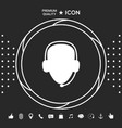 operator in headset call center icon graphic vector image