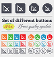 Pencil and ruler icon sign Big set of colorful vector image vector image