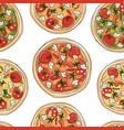 pizza seamless pattern for your design vector image vector image