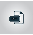 PPT extension text file type icon vector image vector image