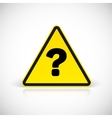 Question triangle sign vector image