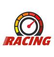 racing dashboard logo flat style vector image