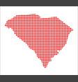 red dot map of south carolina vector image vector image