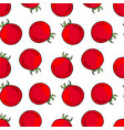 red tomatoes seamless pattern vector image vector image