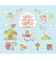 Religious icon set vector image