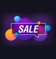 sale in design banner template for web vector image