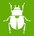 scarab icon green vector image vector image