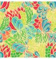 Seamless floral vintage doodle pattern vector image