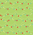 Seamless pattern with Christmas star garland vector image vector image