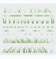 set elements green grass isolated on vector image