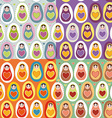 Set of four Seamless pattern Russian dolls vector image