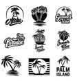 set summer emblems and design elements design vector image