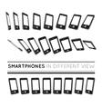 Smartphones in different view vector image vector image