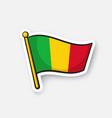 sticker national flag mali vector image vector image