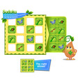 sudoku game insects iq vector image vector image