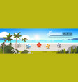 sunrise tropical palm beach balls view summer vector image vector image