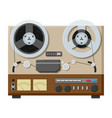tape recorder deck or machine in retro style vector image
