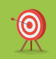 target with arrow business success concept vector image