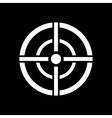 The aim bag icon Crosshair and target sight vector image vector image