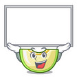up board slice of melon isolated on cartoon vector image vector image