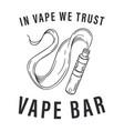 vape bar logo vector image vector image