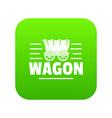 wagon icon green vector image vector image
