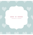 White lace hearts textile texture white frame vector image vector image