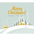 winter landscape with village vector image vector image