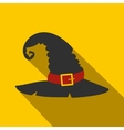 Witch black hat flat vector image