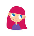 women avatar with pink hair vector image vector image
