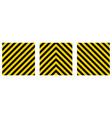 set warning striped rectangular background vector image