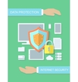Internet security data protection flat vector image