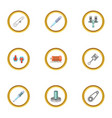 mechanical and electrical parts icons set cartoon vector image