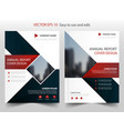 red blue square annual report leaflet brochure vector image