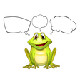 A frog with empty callouts vector image vector image