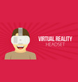 a man with isometric virtual reality headset vector image