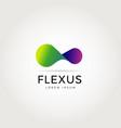 abstract flexible logo symbol icon vector image vector image