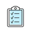 Artificial intelligence icon with checklist symbol vector image