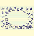 back to school hand drawn school icons and vector image vector image