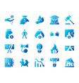 bankruptcy simple gradient icons set vector image