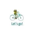 basic happy frog riding bike pleasure trip