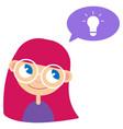 batan girl and idea vector image vector image