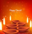 beautiful diwali festival greeting design vector image