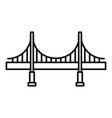 big metal bridge icon outline style vector image vector image