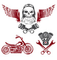 Biker Theme Label Set vector image vector image