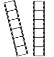 Blank cinema film strip frames with empty space vector image
