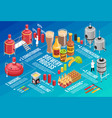 brewery isometric infographic vector image vector image
